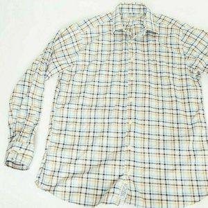 Mens Gitman Bros Shirt Long Sleeve Large